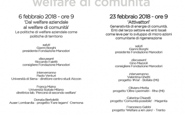Welcom 2 – Welfare di comunità